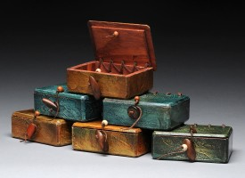 "Mixed Media Boxes – suite 2/11, 6x – 3.5""x2.5""x1.5"""