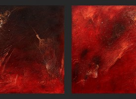"Night Quary 1 and 2 – mixed media – oil on panel, 2x 24"" x 24"""